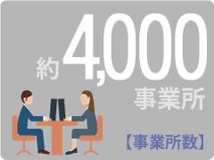事業所数 約4000事業所