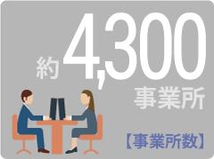 事業所数 約4300事業所